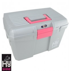HySHINE Tack Box – Silver/Raspberry