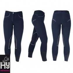 HyPerformance Diamante Ladies Breeches (Navy)