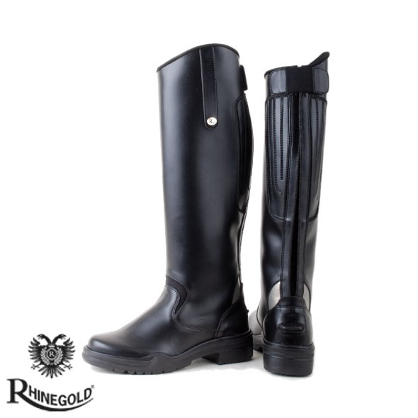 Rhinegold Nebraska Synthetic Long Riding Boots (sizes 3-8)