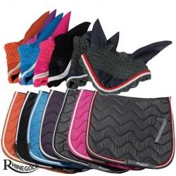 Rhinegold Wave Saddlepad/Fly Veil Set
