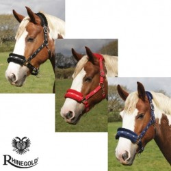 Rhinegold Logo Padded Headcollar with Fur Trim