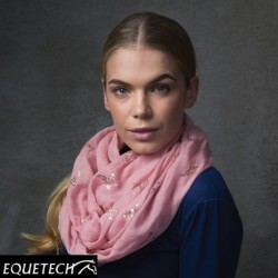 Equetech Pheasants Infinity Scarf – Pink/Rose Gold