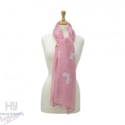 HyFASHION Ladies Belvoir Horse Print Scarf – Pink/White Horse Print
