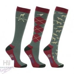 HyFASHION Fox and Hound Socks (Pack 3)