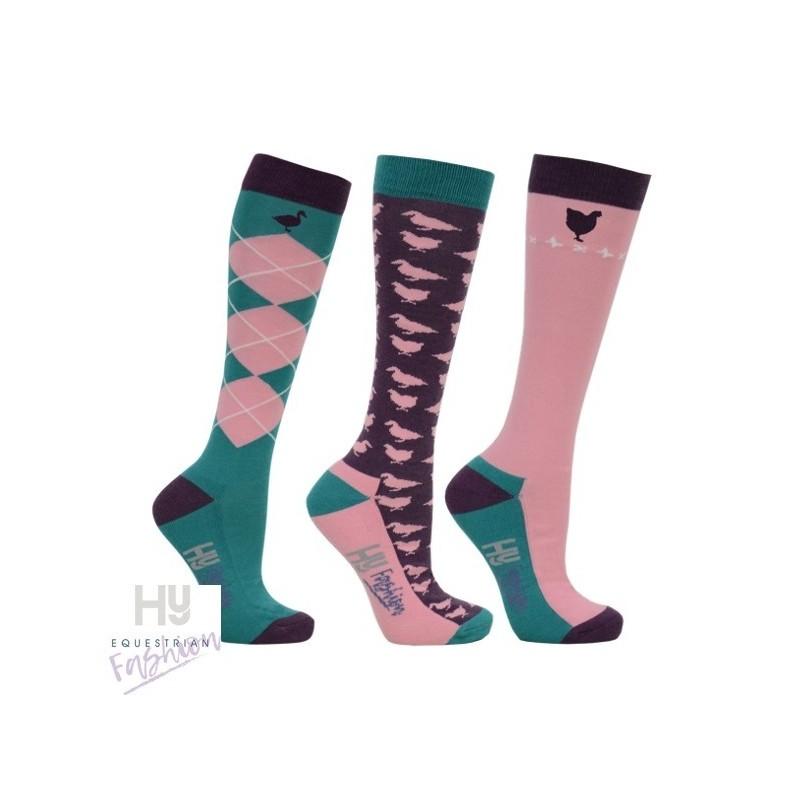 HyFASHION Farm Yard Socks (Pack 3)