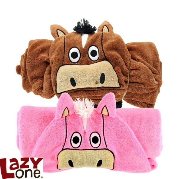 LazyOne Hooded Critter Fleece Blanket – Horse