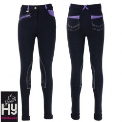 HyPERFORMANCE Diesel Children's Jodhpurs – Navy/Lavender