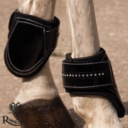 Rhinegold Patent/Crystal Tendon & Fetlock Boot Set