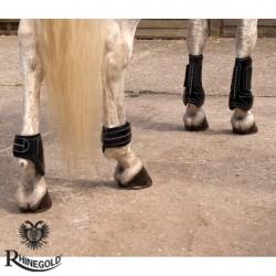 Rhinegold Patent/Crystal Tendon & Fetlock Boot Set