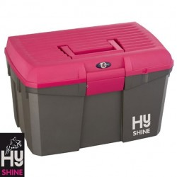 HySHINE Tack Box – Grey/Raspberry – CLEARANCE STOCK