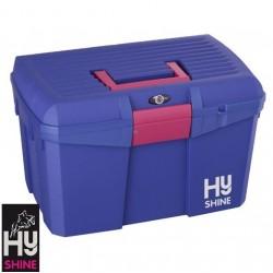 HySHINE Tack Box – Royal Blue/Raspberry – CLEARANCE STOCK