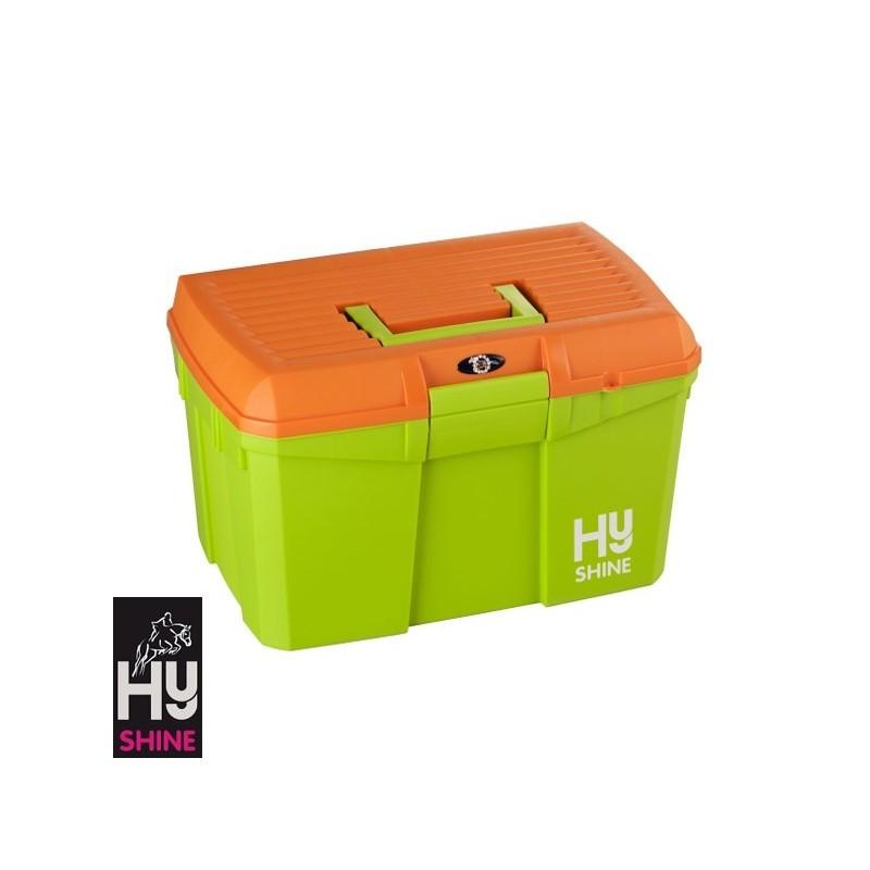 HySHINE Tack Box – Lime Green/Orange – CLEARANCE STOCK