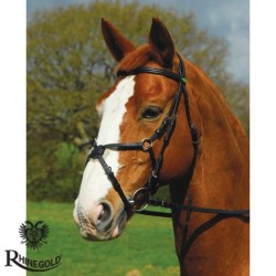 Rhinegold German Leather Comfort Bridle With Grackle Noseband