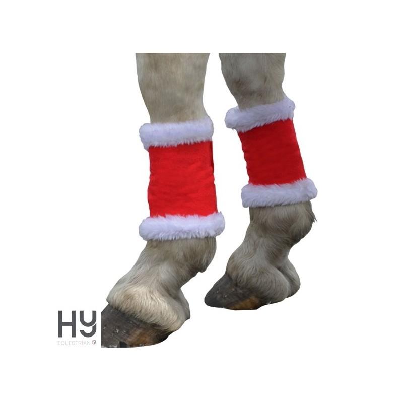 Hy Christmas Santa Horse Leg Wraps