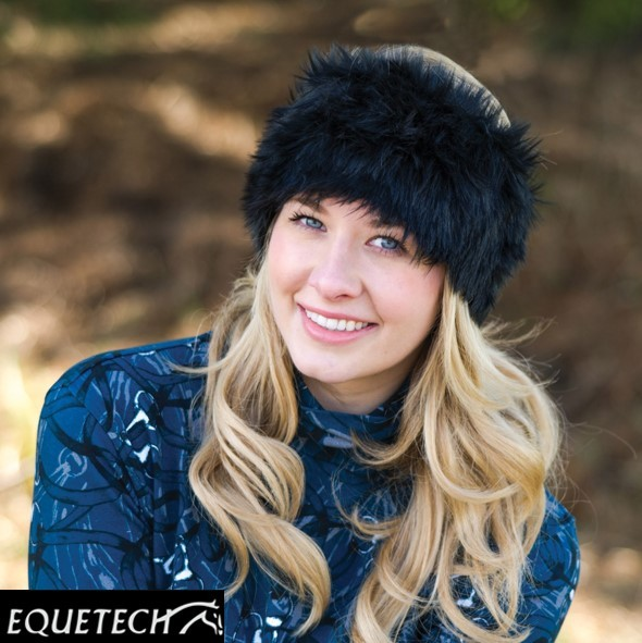 Equetech Faux Fur Knot Headband