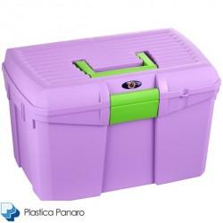 Plastica Panaro Tack Box – Medium – Iris/Orchid/Violet