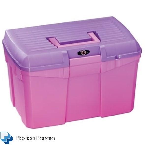 Plastica Panaro Tack Box – Medium – Candy Pink/Purple