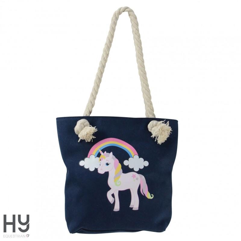 HyFASHION Unicorn Glitter Tote Bag
