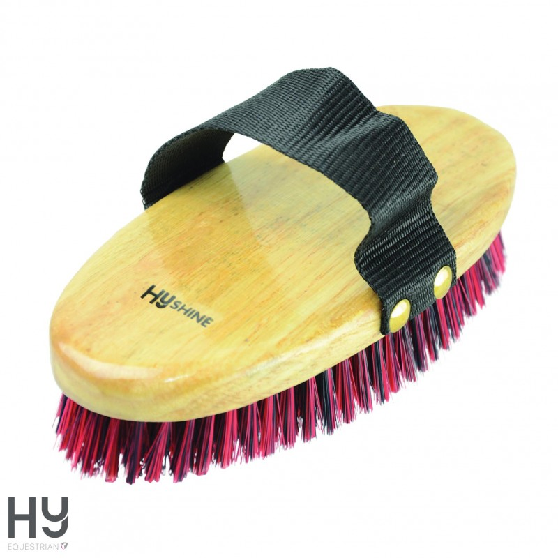 HySHINE Natural Wooden Body Brush