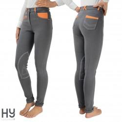HyPERFORMANCE Diesel Ladies Jodhpurs - Grey/Orange