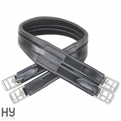 HyCOMFORT Leather Padded Atherstone Girth - Elasticated Both Ends
