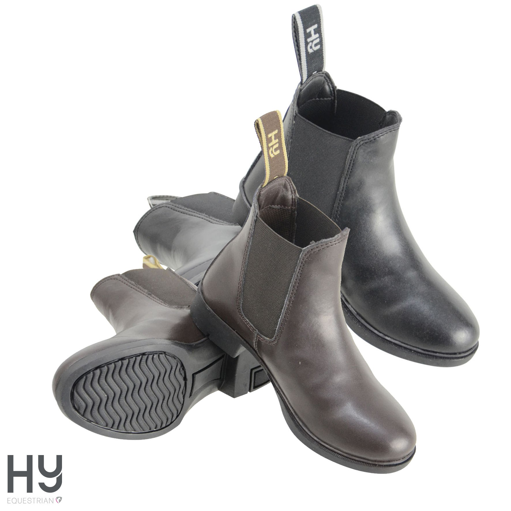 HyLAND Beverley Synthetic Combi Leather Jodhpur Boots