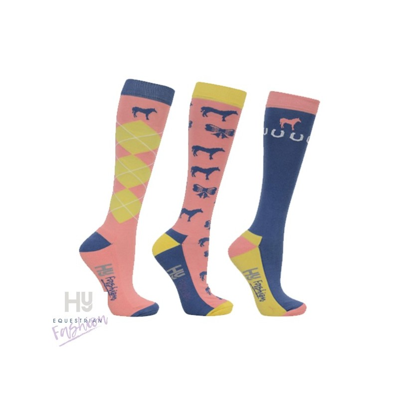 HyFASHION Newmarket Horse Print Socks