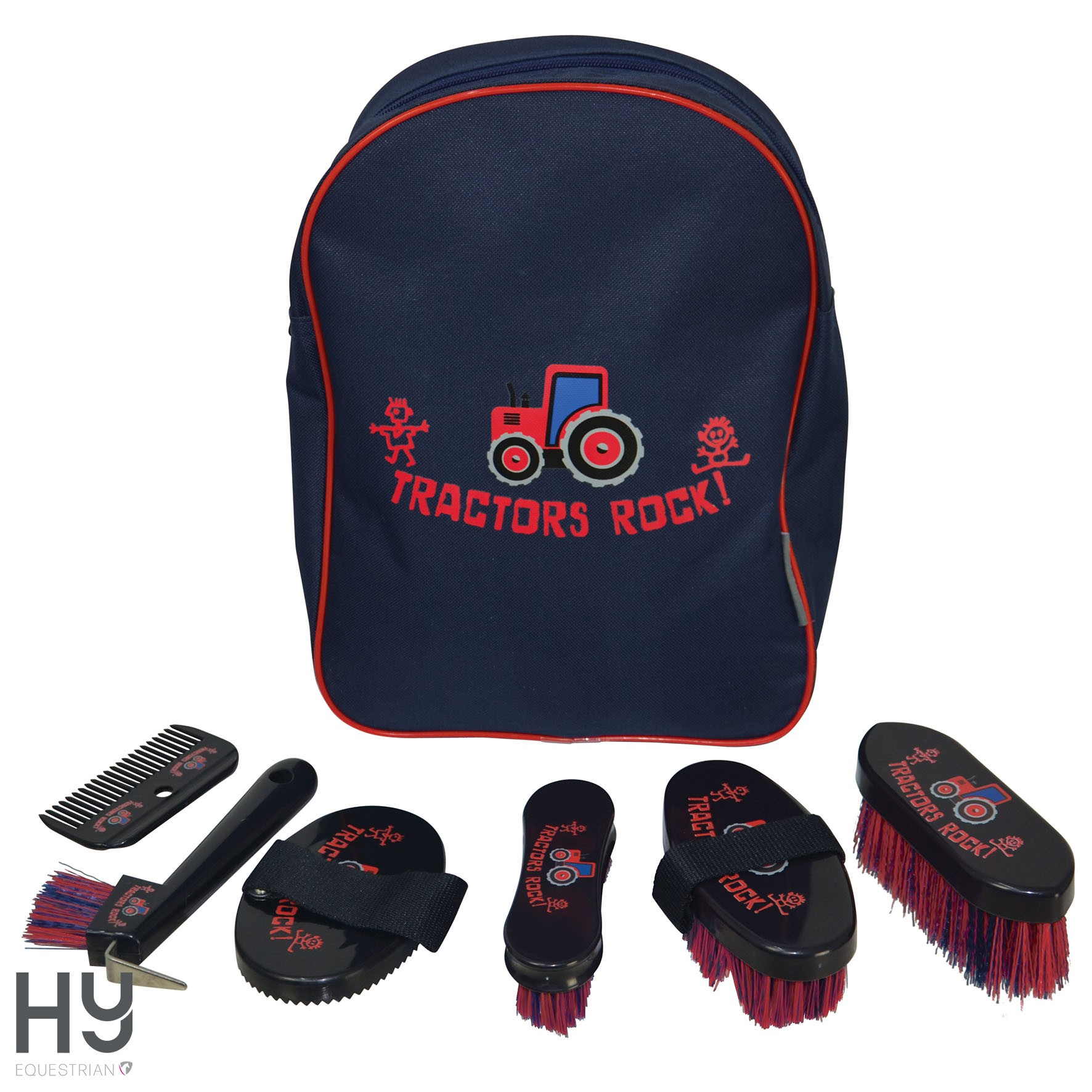 Tractors Rock Complete Grooming Kit Rucksack by Hy Equestrian