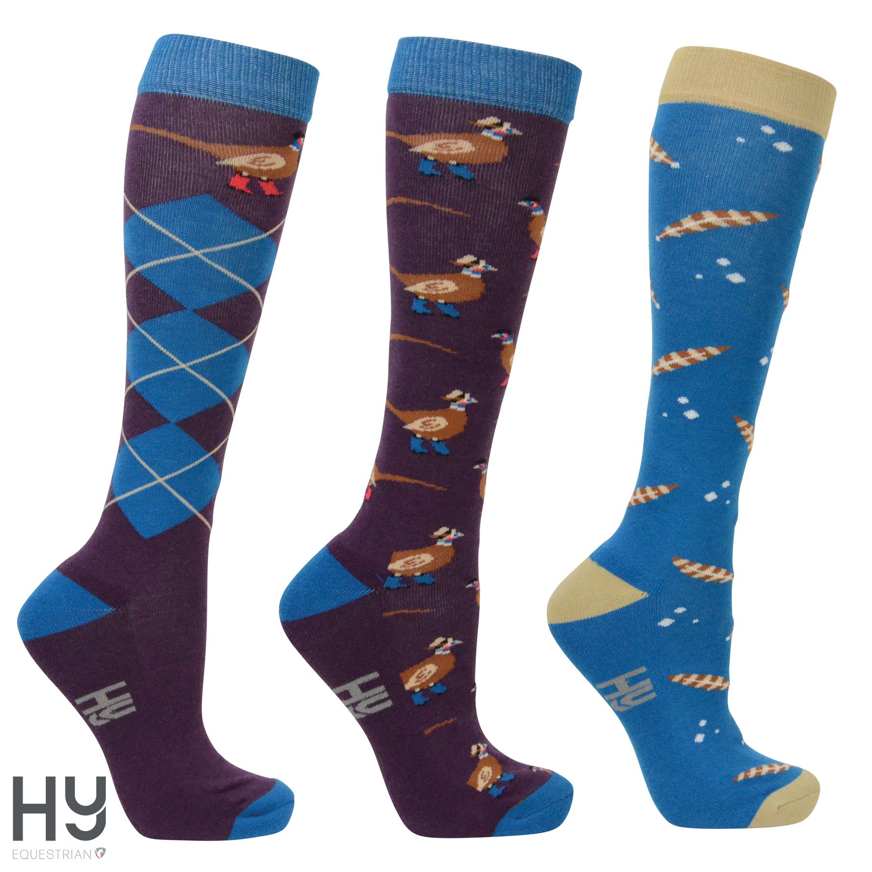Hy Equestrian Patrick the Pheasant Socks