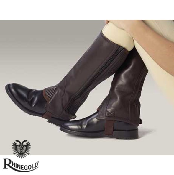 Rhinegold Childrens Leather Half Chaps