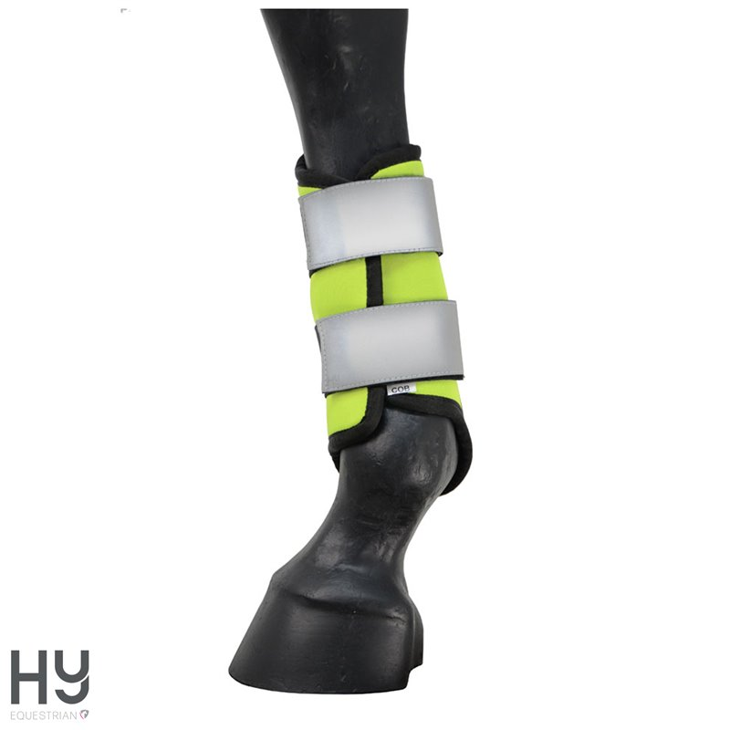 Reflector Brushing Boots by Hy Equestrian