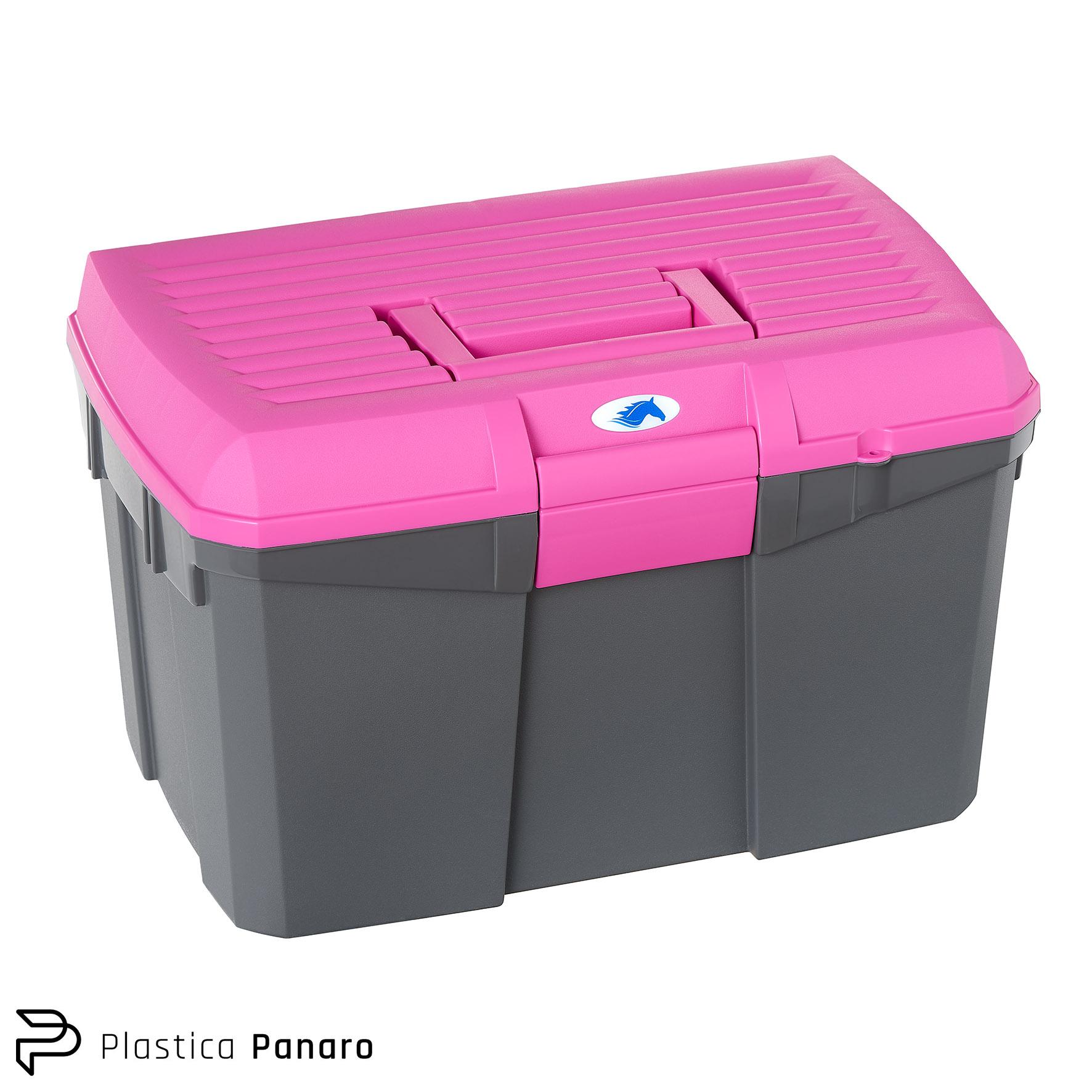 Black/Iris Pink Grooming/Tack Box – Medium