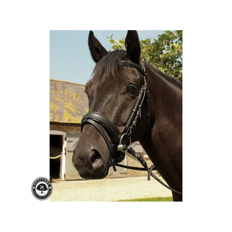 Heritage English Leather Comfort Bridle – With Flash Noseband
