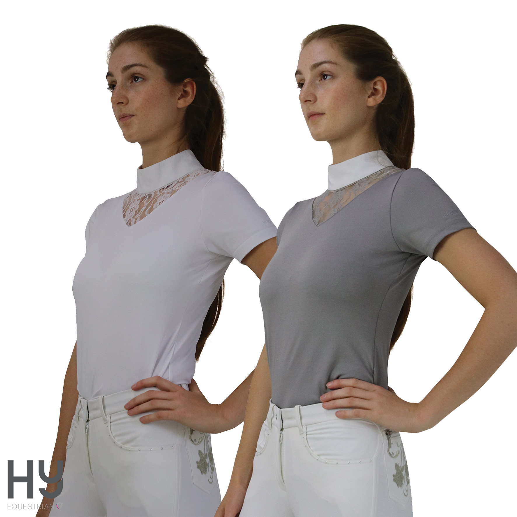 Hy Equestrian Lucie Lace Show Shirt