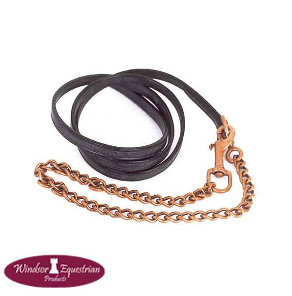 """Leather In Hand Lead And Brass Chain – 1/2"""""""