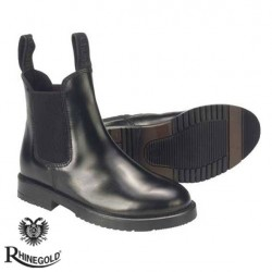 Rhinegold Childrens Classic Leather Jodhpur Boots (sizes 10-5)