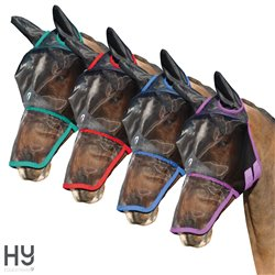 Hy Equestrian Mesh Full Mask with Ears and Nose