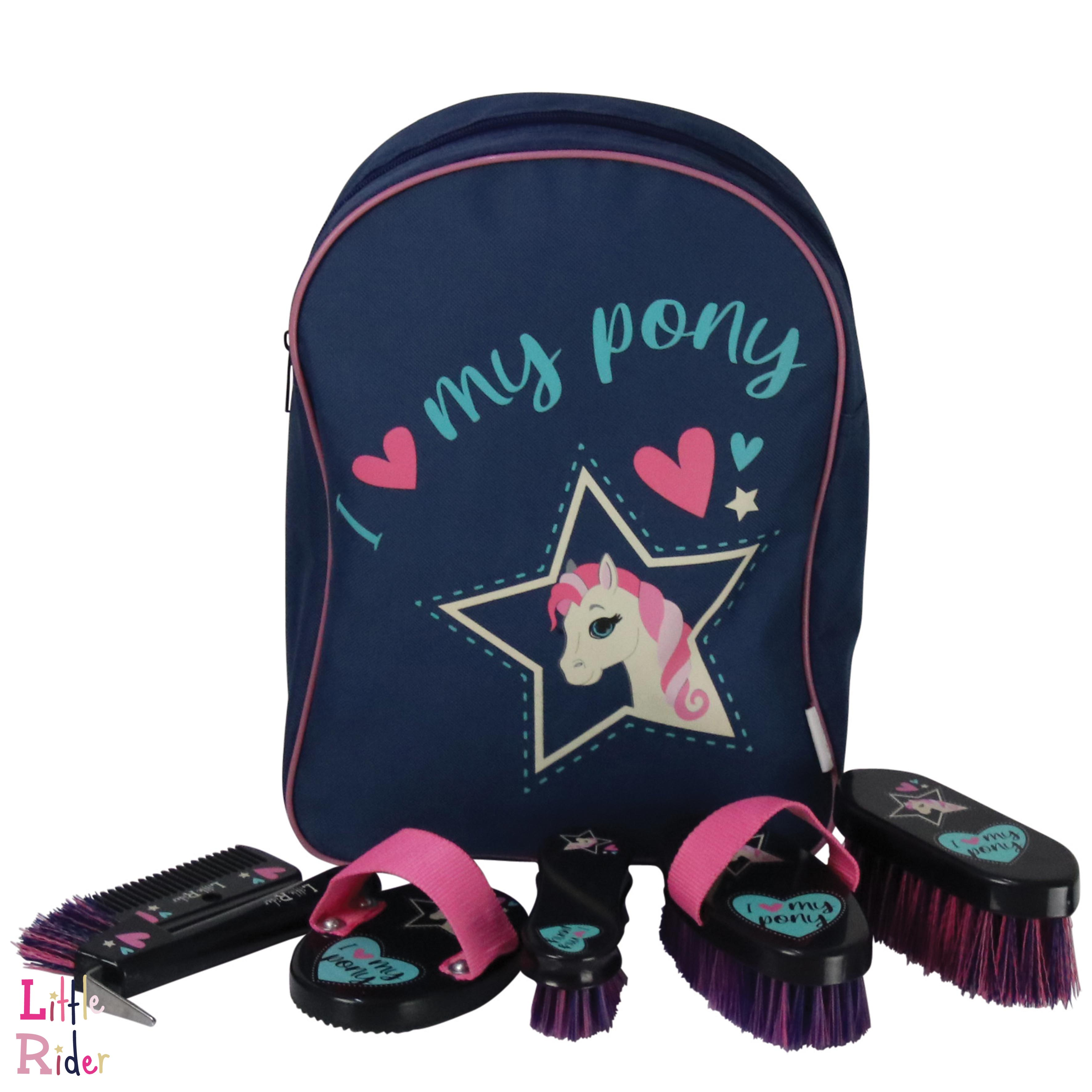 I Love My Pony Collection Complete Grooming Kit Rucksack