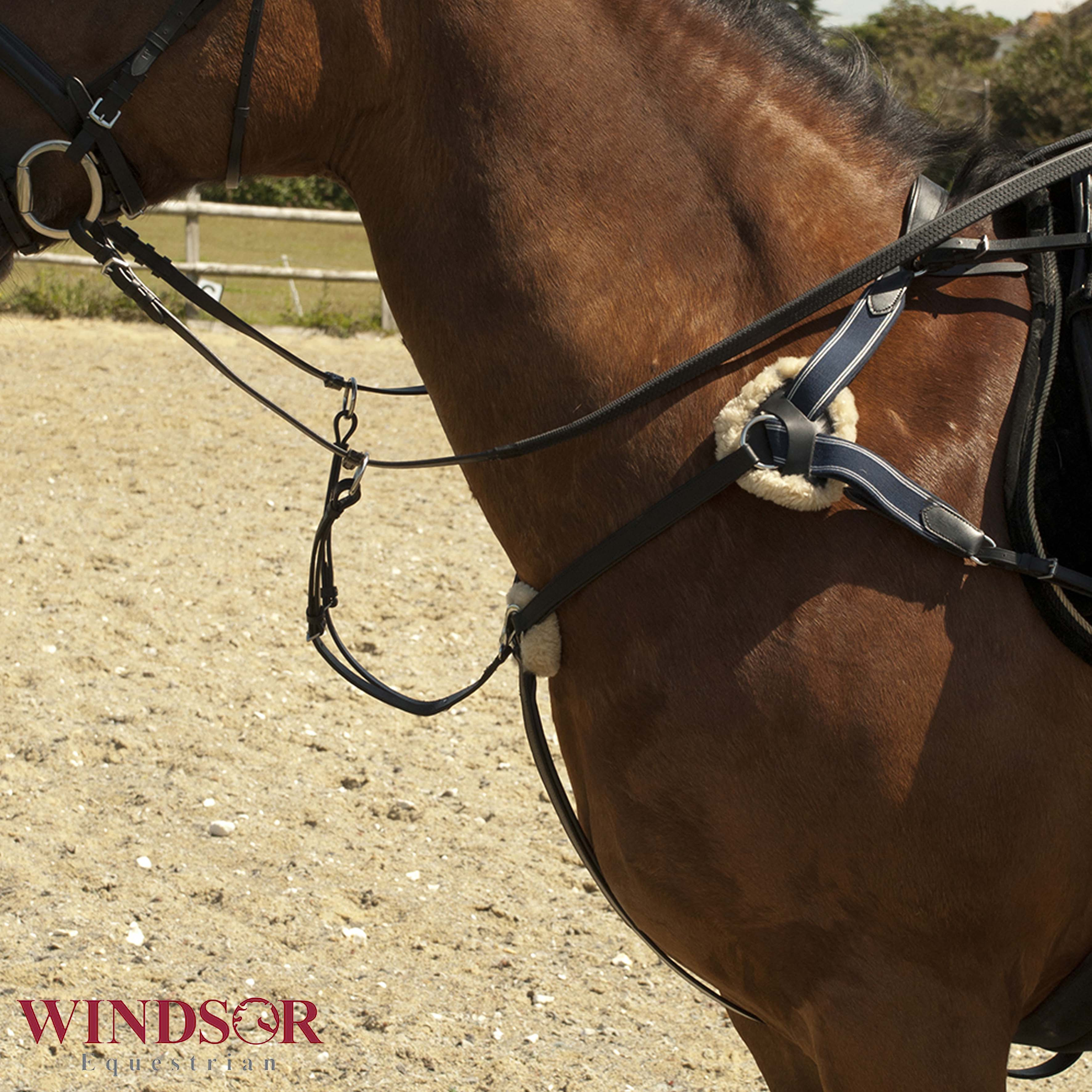 Leather 5 Point Breastplate by Windsor Equestrian