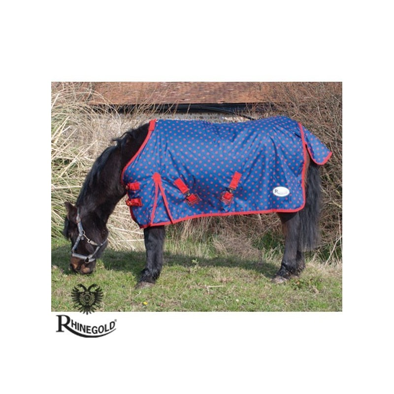 "Rhinegold Foal/Tiny Pony Dottie Torrent Lightweight Outdoor Rug – 3\'6"" - 4\'0\"""