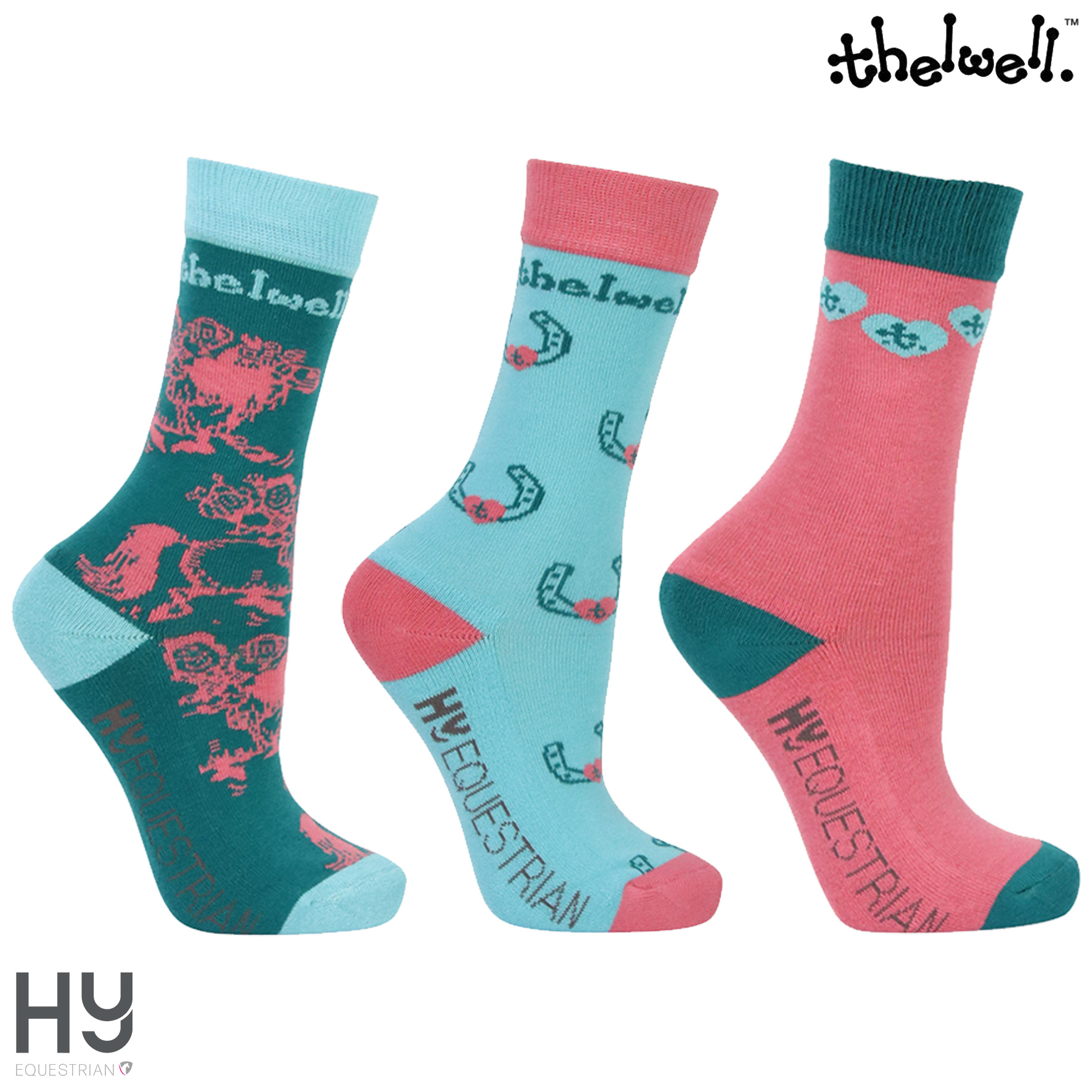 Thelwell Collection Children's Trophy Socks (Pack of 3