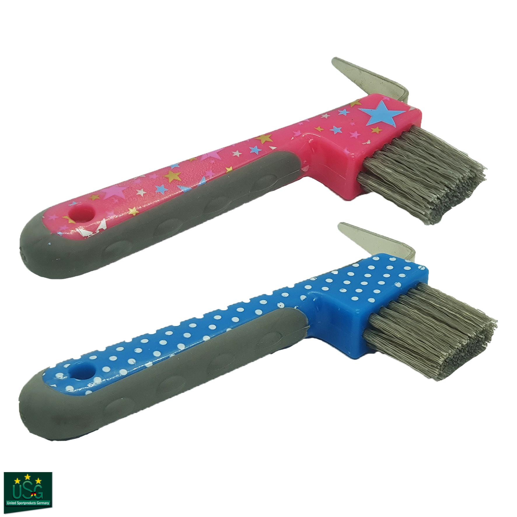 USG Soft Touch Printed Hoof Pick Brush