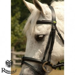 Rhinegold German Leather Bridle with Flash Noseband