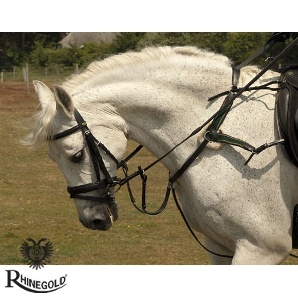 Rhinegold German Leather 5-Point Breastplate