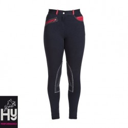 HyPERFORMANCE Diesel Ladies Jodhpurs - Navy/Red